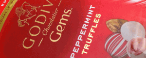 Limited Edition Godiva Chocolatier Gems Peppermint Truffles