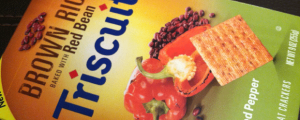 Review: Roasted Red Pepper Brown Rice Triscuit & Where the Hell Did Louisville Come From??