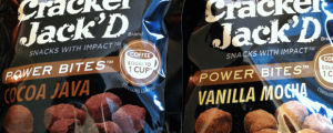 Review (x2): New Cracker Jack'D Cocoa Java & Vanilla Mocha Power Bites and Daylight Savings Time Batting 1.000 Against Me