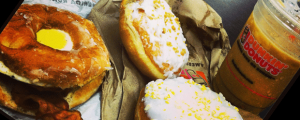 Review: Dunkin' Donuts Bacon Egg Glazed Donut Sandwich, Key Lime Donut, Lemonade Donut & Throwing Eggs at Simon Cowell