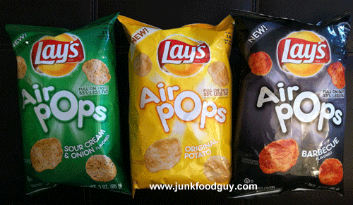 New Lay's Air Pops (Original Potato, Sour Cream & Onion, Barbeque): The Money Shot