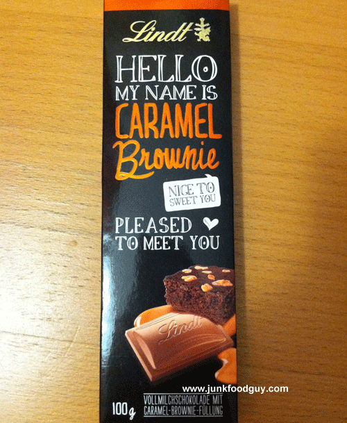 Lindt Hello My Name is Caramel Brownie Chocolate