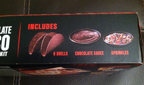 Taco Bell Chocolate Taco Dessert Kit