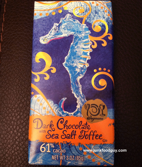 Wegmans Dark Chocolate with Sea Salt Toffee Bar