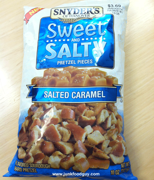 New Snyder's of Hanover Salted Caramel Sweet and Salty Pretzel Pieces