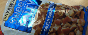 Review: New Snyder's of Hanover Salted Caramel Sweet and Salty Pretzel Pieces & FDA to Ban Trans Fats? DON'T CARE