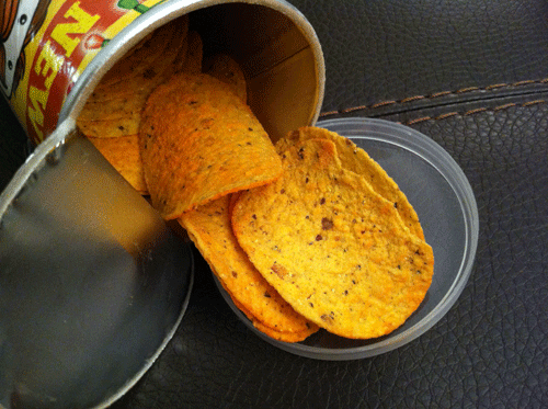 New Nacho Cheese Pringles Tortillas