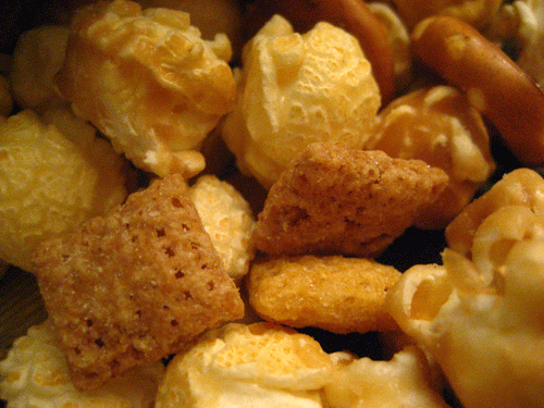 Sweet & Salty Chex Mix Popped