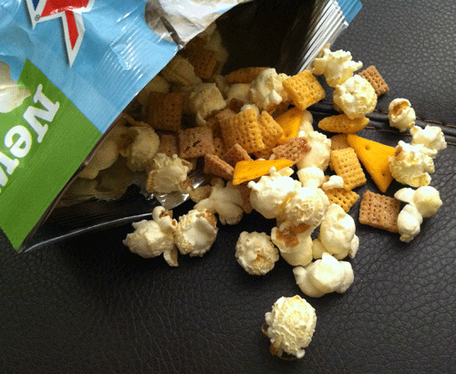White Cheddar Chex Mix Popped