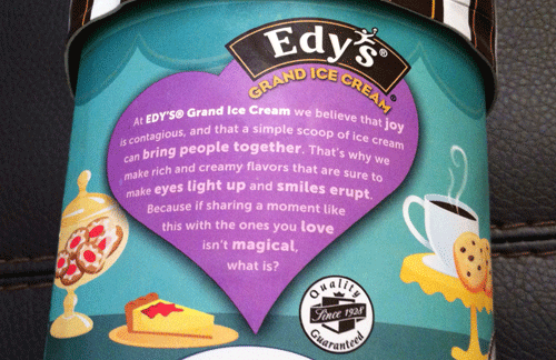 Limited Edition Edy's Bakery Treats Coffee & Cookies Delight Grand Ice Cream