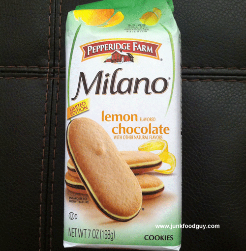 Limited Edition Pepperidge Farm Lemon Chocolate Milano Cookies