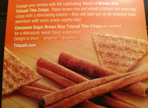 New Brown Rice Cinnamon Sugar Triscuit Thin Crisps