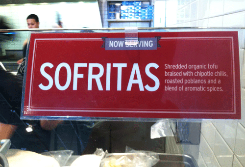 New Chipotle Sofritas