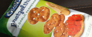 Review: Rold Gold Garlic Parmesan Pretzel Thins & Passover, Taxes, Google Glass, KIDS ON THE METRO