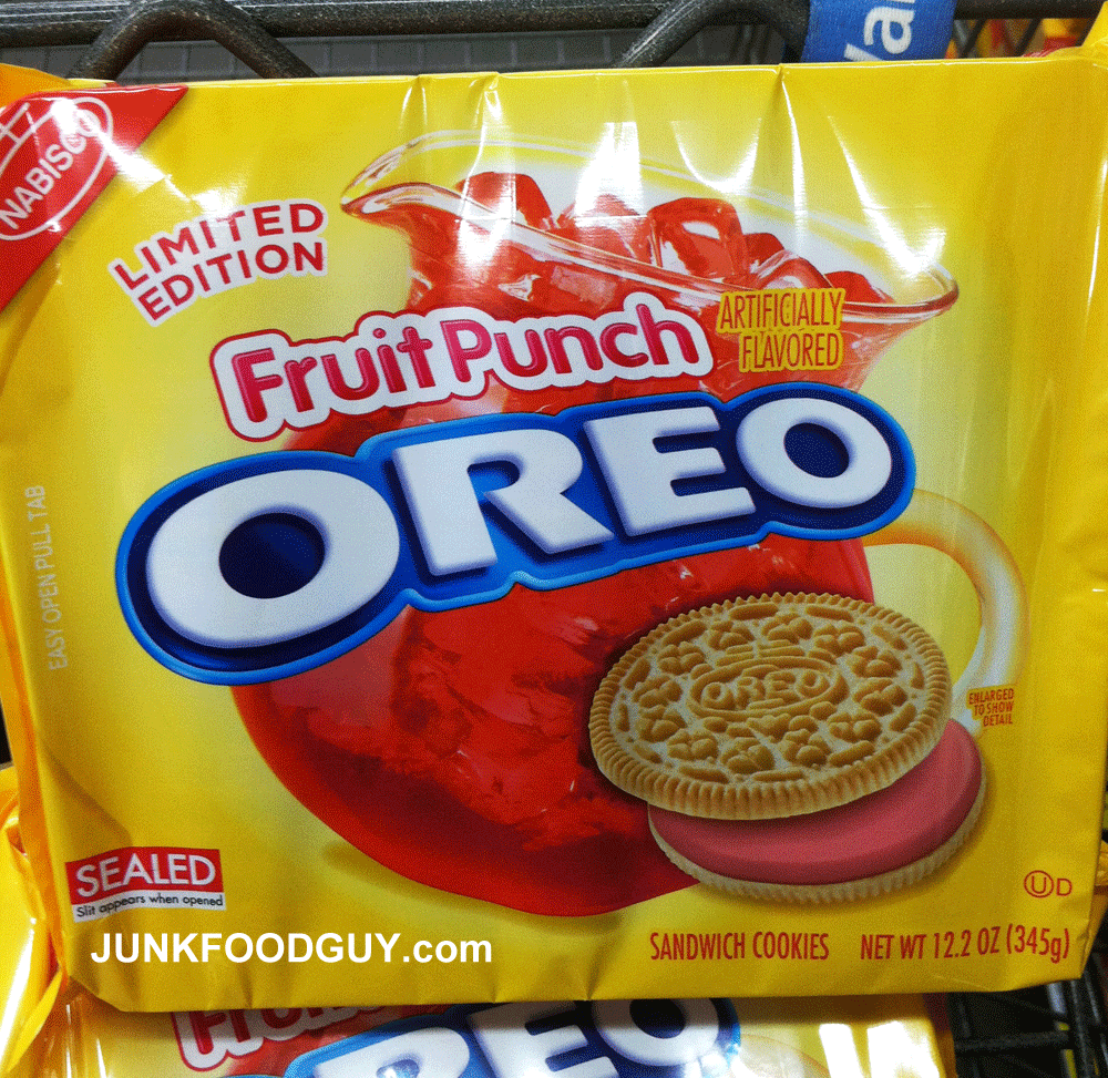 Review Fruit Punch Oreos Limited Edition Junk Food Guy Your