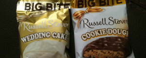 Review (x2): Russell Stover Wedding Cake Big Bite & Cookie Dough Big Bite & Bye Bye Bounce House, Bootleg Mozzarella