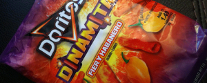 Review: Doritos Fiery Habanero Dinamitas & DOG UNIS. DOG UNIS. DOG UNIS.