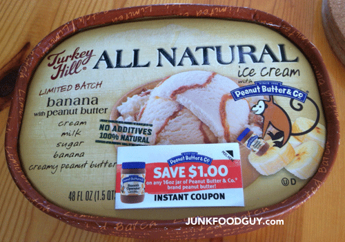 Limited Batch Turkey Hill All Natural Banana w/ Peanut Butter Ice Cream
