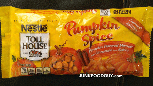 Limited Edition Pumpkin Spice Nestle Tollhouse Morsels