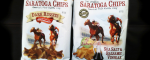 Review (x2): Saratoga Kettle Chips - Dark Russets & Sea Salt Balsamic Vinegar & Snackeez? Nope.