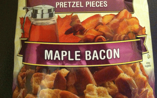 New Snyder's of Hanover Sweet and Salty Maple Bacon Pretzel Pieces