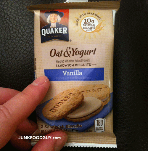 New Quaker Oat & Yogurt Vanilla Sandwich Biscuits