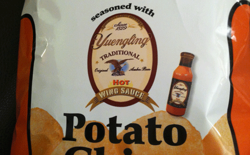 Limited Edition Utz Yuengling Hot Wing Sauce Potato Chips