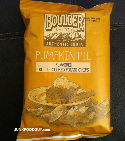 Boulder Canyon's Pumpkin Pie Kettle Cooked Potato Chips
