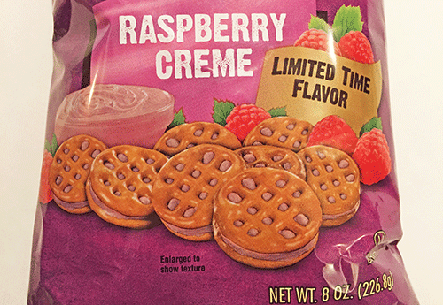 New Snyder's of Hanover Raspberry Creme Sweet Pretzel Sandwiches