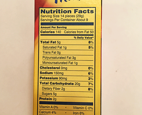 Wheat Thins Food Label - Wheat Photos and Descriptions