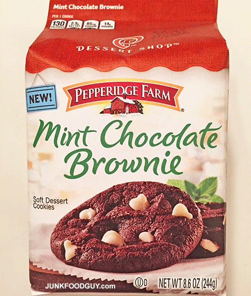New Pepperidge Farm Mint Chocolate Brownie Soft Dessert Cookies: The Money Shot