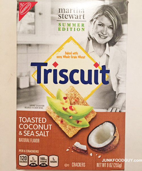 Toasted Coconut & Sea Salt Triscuit (Martha Stewart Summer Edition): The Money Shot
