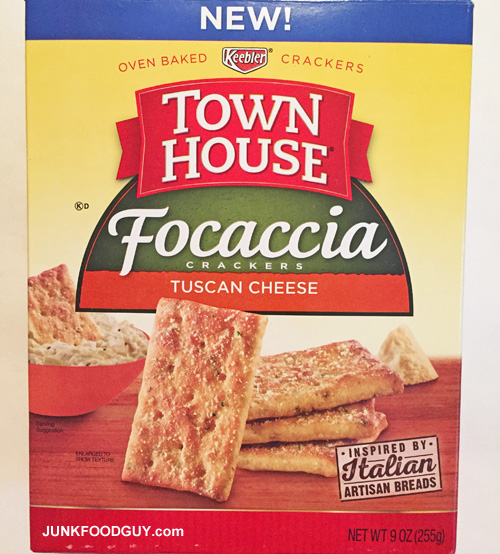 New Keebler Town House Tuscan Cheese Focaccia Crackers: The Money Shot