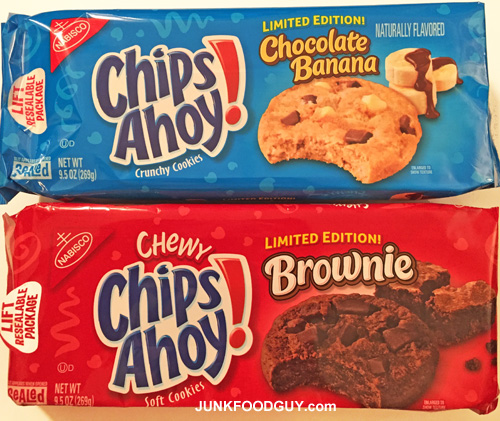 Limited Edition Chocolate Banana Crunchy Chips Ahoy! & Limited Edition Brownie Chewy Chips Ahoy!