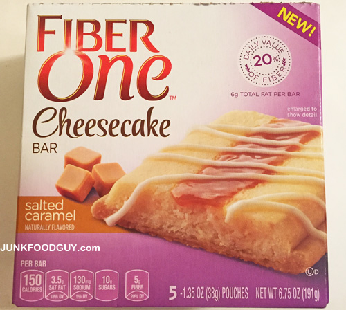 New Fiber One Salted Caramel Cheesecake Bars: The Money Shot