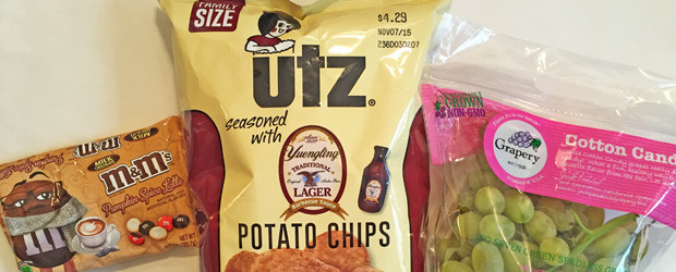 Review(s): Pumpkin Spice Latte M&M's, UTZ Yuengling Barbecue Sauce Potato Chips, Grapery Cotton Candy Grapes, & Showering When I Can Barely See