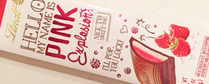 "Review: Lindt ""Hello My Name Is Pink Explosion"" Chocolate & QUICK QUESTION: Which Canadian Lay's Do Us A Flavor Chip Do YOU Want To Try?"