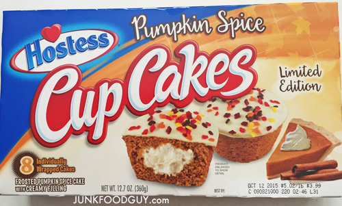 Hostess Limited Edition Pumpkin Spice CupCakes: The Money Shot