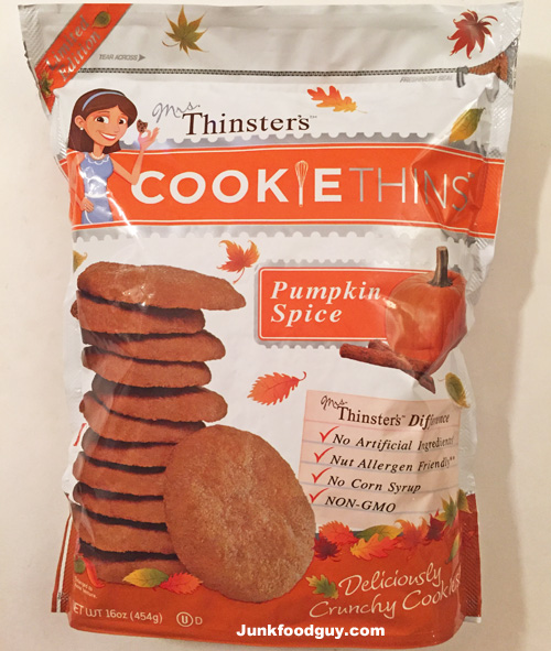 Mrs. Thinsters Pumpkin Spice Cookie Thins: THe Money Shot