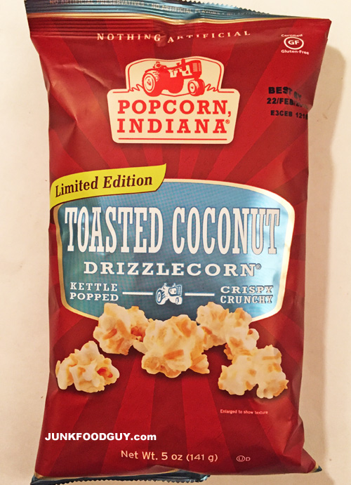 Popcorn, Indiana Limited Edition Toasted Coconut Drizzlecorn: The Money Shot