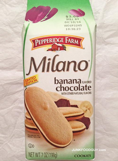 Limited Edition Pepperidge Farm Banana Chocolate Milano Cookies: The Money Shot
