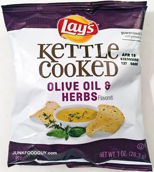 Lay's Kettle Cooked Olive Oil & Herbs Potato Chips: The Money Shot