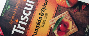 MICRO-REVIEW: Limited Edition Pumpkin & Spice Triscuit