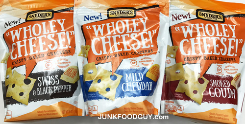 Todays Junk Food Snyders Of Hanover Wholey Cheese Crispy Baked Crackers