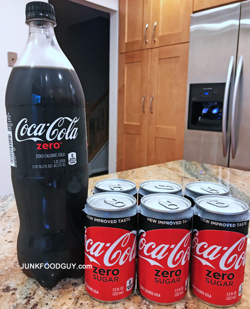 review coca cola zero sugar face off with coke zero junk food guy your daily snack of. Black Bedroom Furniture Sets. Home Design Ideas